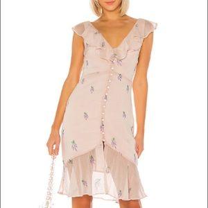 NWT Ciro Embroidered Dress LPA